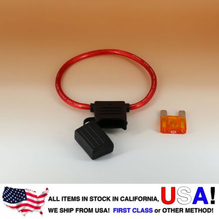 8 AWG MAXI Fuse Holder Car / Boat + 40AMP Fuse