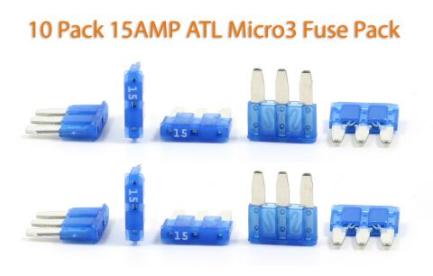 Automotive ATL (Micro3) - 15A Fuses - Pack of 10