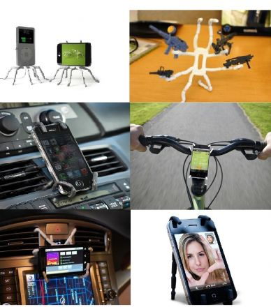 Universal Flexible Grip CAR / DESK Stand Mount Hanger Holder for SmartPhone GPS MP3 (GRAY)