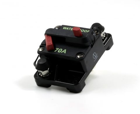 Lumision Waterproof Automotive Circuit Breaker Manual Reset 12-48VDC 70A