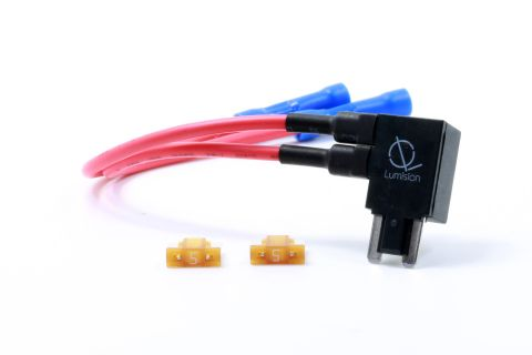 Dual Fuse Tap Low Profile LP Mini APS ATT with 5 AMP Fuses