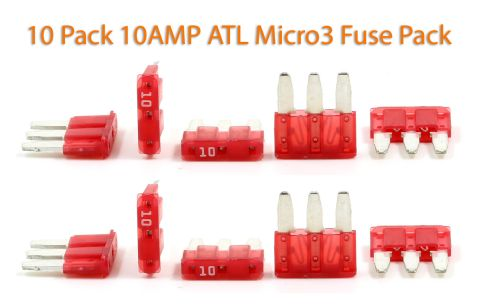 Automotive ATL (Micro3) - 10A Fuses - Pack of 10