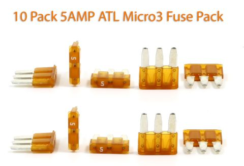 Automotive ATL (Micro3) - 5A Fuses - Pack of 10