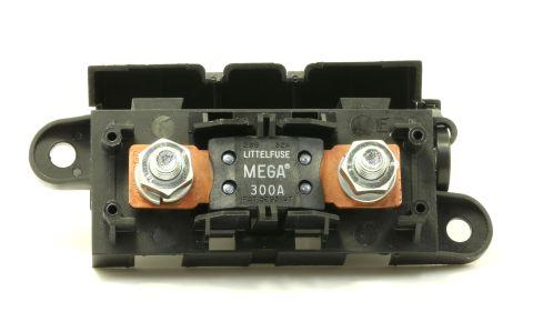 LITTLEFUSE Expandable Mega Fuse HOLDER with 300A megafuse 300 amp 32V DC Slo-Blo
